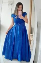 Título do anúncio: Vestido azul marinho para festa