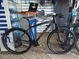 Bicicleta Aro 29 Athor top android Alumínio 21 Marchas tourney (21V) Preta Fosca com cinza
