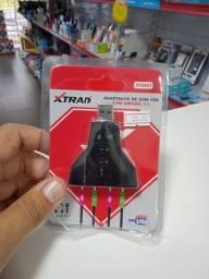 Adaptador de som USB com 4 Saídas