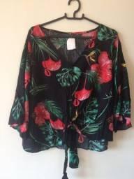 Blusa Estampada (tam M) | Com etiqueta