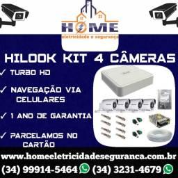 Título do anúncio: Câmeras de Segurança Hilook Kit 4 Câmeras *