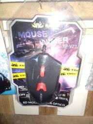 Mouse PC gamer óptico novo