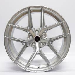 Título do anúncio: Jogo Roda Vittoria Wheels San Francisco Aro 19x8,5 Prata Diamantada 5x112 Et 45