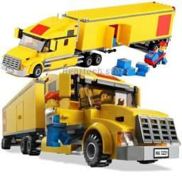 Carreta Truck Cavalo Mecanico Transporte City Bloco 298 Peças  Entrega grátis!