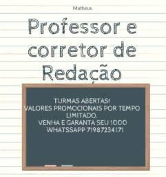 Título do anúncio: Correções e aulas (particulares) - Redação. Venha conferir.