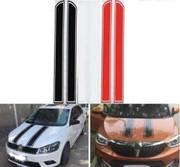 Adesivo Faixa Preto Branco ou Vermelho