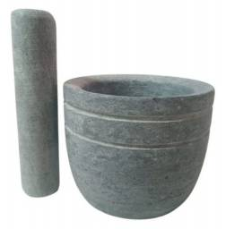 Pilão de pedra Sabão Grande