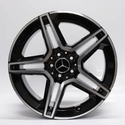 Título do anúncio: Jogo Roda Raw Mc/M22 Mercedes Benz C300 2020 Aro19x8 E 9 Preta Diamantada 5x112 Et 45 E 50
