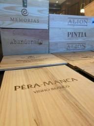 Caixa de Madeira de Vinho para Decoração