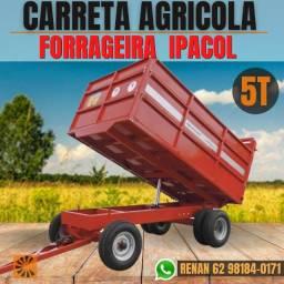 Título do anúncio: Carrega Agricola Forrageira 5T Basculante Ipacol RS+RS