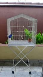 Viveiro Gaiola Pássaros Grande com Acessórios e Base