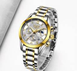 Relógio Feminino Lige Dourado - PROMOÇÃO ESPECIAL (Leia a Descrição do Produto)