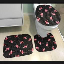 Kits com 3 peças tapetes de banheiro na promoção