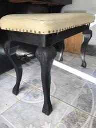 Banco de piano com mini bau movel de estilo vintage
