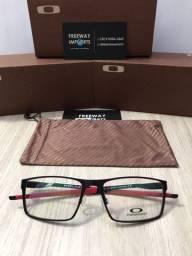 Óculos Oakley Plate Red armação de alumínio nova