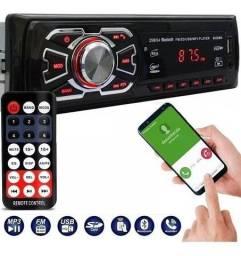 Rádio Novo MP3 Automotivo USB Bluetooth Auxiliar Sd Card