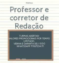 Título do anúncio: Correção de Redação.  Prof. Matheus Silva. Veja a descrição.