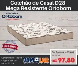 Título do anúncio: Colchão de Casal Ortobom Mega Resistente D28!