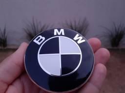 Título do anúncio: calota centro da roda emblema BMW 68mm preto e branco