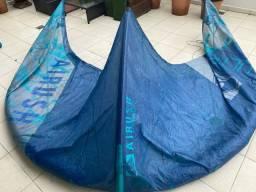 Kite Airush Ultra 9M c/ barra - o mais leve do mercado