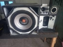 Caixa de som médio grave so a caixa sem os acessórios