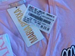 Vestido Maria Gueixa original, rosa claro, com cinto elástico removível.