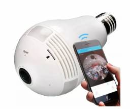 Lampada Camera Ip Segurança Espiã 360 Panoramica Wifi V380