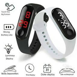 Relógio de Pulso Digital com LED Unissex Esportivo Relógio Tipo Bracelete