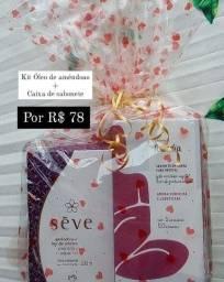 Kit Óleo de amêndoas + caixa de sabonetes