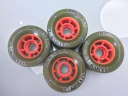 Rodas Abec11 Flywheels 76mm 75a - usadas apenas uma vez