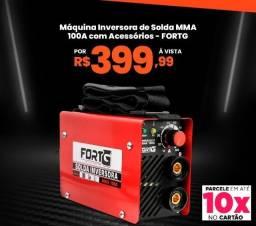 Título do anúncio: Máquina Inversora de Solda 100Amp. Nova Portátil (Pequeno) Para Uso Leve