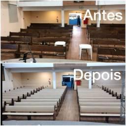 Título do anúncio: Reformamos e estofamos banco para igreja e capela, revitalizamos, lavamos, modernizamos