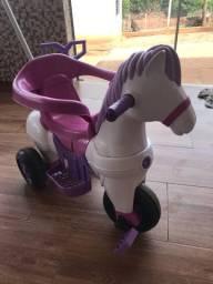 Triciclo Infantil Empurrar Passeio Poto Rosa Calesita