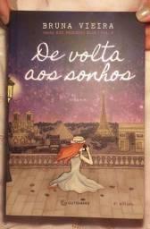 Título do anúncio: Livro De volta aos sonhos Bruna Vieira