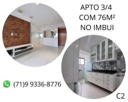 Título do anúncio: Pronto para você morar, apartamento no Imbui, 3/4, 76m². (C2) Novo