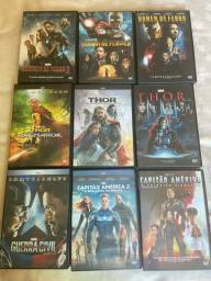 DVD?s todos os filmes da marvel para colecionador + Box de brinde