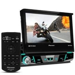 Dvd retratil Pioneer com Bluetooth controle TV digital completo