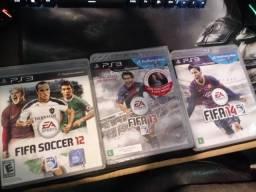 Lote Jogos ps3 Futebol 11 jogos coleçao