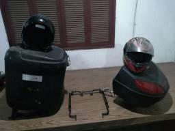 Baú, bauleto(com suporte) ,trilho e capacetes. TORRO!