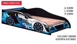 Cama de Carro Drift Azul - Tenho Mais Cores