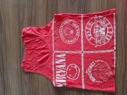 Blusa regatinha vermelha