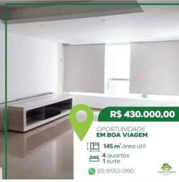 Vendo Excelente Apartamento em Boa Viagem | 170 Metros | 5 Quartos | 1 Suíte | Reformado