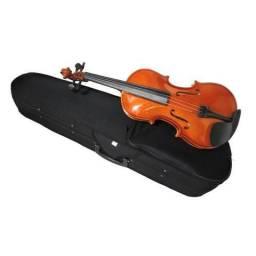 Violino com acessórios de ébano