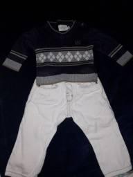 Calça  (zara) suéter  (Noruega)