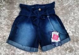 Short jeans tamanho 36 cintura alta
