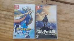 Zelda BOTW e Pokémon Sword