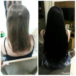 Aplicação de cabelo Humano