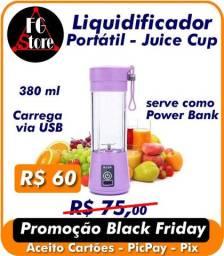 Mini Liquidificador Portátil Shake Juice Cup / Usb - Azul