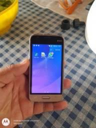 Samsung J1 mini dourado conservado valor 200 reais
