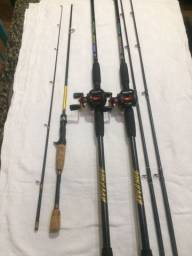 Título do anúncio: Kit pesca esportiva usado